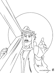 Jesus christ carrying the cross coloring pages - Hellokids.com