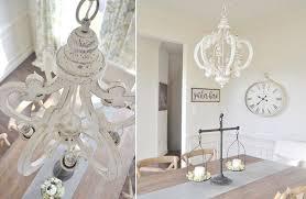 distressed white wood chandelier pendant light