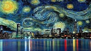cityscape skyser reflection painting vincent van gogh s water