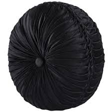 J Queen New York Bradshaw Tufted Round Decorative Pillow