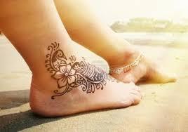 Fotka Henna Tetování Na Nohu 80075664 Fotobanka Fotkyfoto