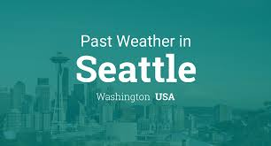 Seattle Temperature Chart Past Weather In Seattle Washington Usa Yesterday Or