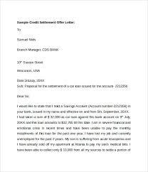 Sample Credit Settlement fer Letter
