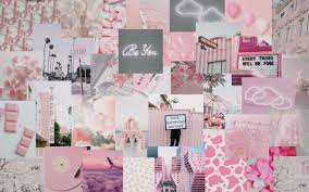 Pink and white aesthetic desktop ...