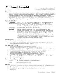 Unix Sys Administration Sample Resume 19 Linux System