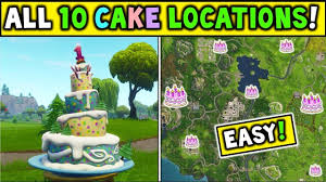 All 10 Locations For The Birthday Cakes Find All 10 Birthday Cakes
