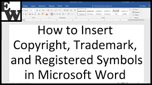 Trademark Symbol Copy Paste How To Insert Trademark Copyright And Registered Symbols In Microsoft Word