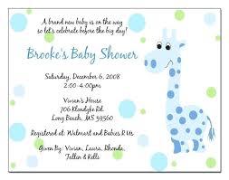 Baby Shower Invitations Wording Becreatives Info