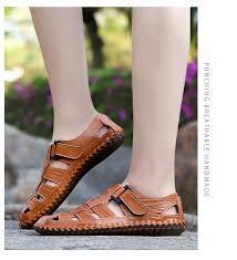 Size 39-47 <b>Mens</b> Sandals <b>Outdoor</b> Beach Shoes <b>Leisure</b> Genuine ...