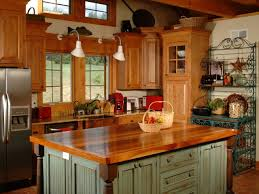 Red Country Kitchen Cabinets Simple Country Kitchen Designs White Tile Backsplash Built In