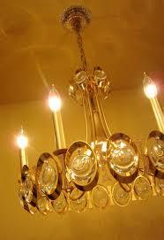 extraordinary 1970s 24k gold crystal chandelier by sciolari
