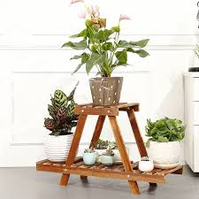 garden shelves. Sitting Room Plant Rack Stand Wooden Flower Display Stands 2 Tier Home Garden Shelves For Plants