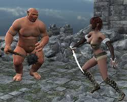 Sexy Elf Teen fuck Petite body fucked by monster orc outdoors in.