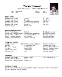 Resume Template Acting Resume No Experience Preview Principal Resume