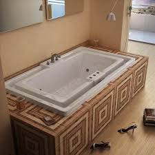 atlantis tubs 4678idl infinity 46 x 78 x 23 inch endless flow air whirlpool jetted bathtub w left side pump placement