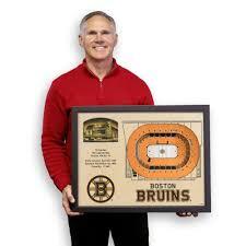 Bruins 3d Seating Chart Boston Bruins Td Garden 3d Wood Stadium Replica 3d Wood Maps Bella Maps