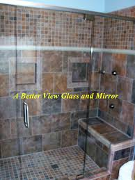 custom heavy 3 8 frameless glass shower door and glass panel with knotch and shower