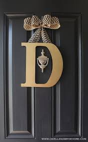 letters for front doorSo easy to make and the supplies only cost 7 from Hobby Lobby