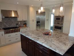 Kitchens With White Cabinets And Dark Island Kitchen Countertops