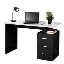 inexpensive office desks. Amazon.com: Fineboard Home Office Desk With 3 Drawers, Black/White: Kitchen  \u0026 Dining Inexpensive Office Desks E