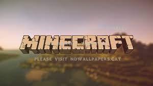 minecraft logo wallpaper landscape games
