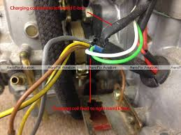 aerofix aviation rotax service rotax servicing rotax repairs rotax ducati dcdi charging coil wires coming out of crankcase