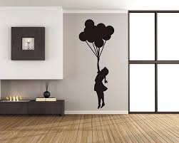 silhouette wall art banksy floating balloons and girl tree silhouette vinyl wall art decal