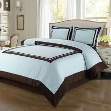 modern hotel blue brown cotton duvet cover set luxury hotel style blue and brown bedding