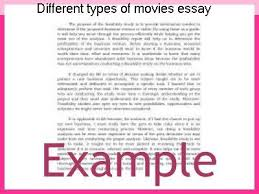 types of movies different types of movies essay research paper writing service