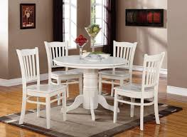elegant contemporary white round kitchen table set
