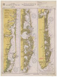 Manasquan Tide Chart 2018 Manasquan To Cape May 1940 Nautical Map New Jersey Harbors 2 3243 Reprint Inland Waterway