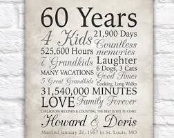 60th anniversary gift 60 years married or any year gift for grandma and grandpa