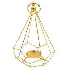 Metal Candle Holder Designs Geometric Candlestick Simple Modern Design Metal Black Candle Holder Gold