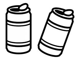 缶ジュースの白黒イラスト かわいい無料の白黒イラスト モノぽっと