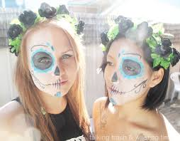 today i woke up early to do my niece friends make up for future festival that was in sydney today appaly it was the day of the dead set