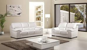 luxor 2 piece italian top grain white leather sofa set usa furniture warehouse