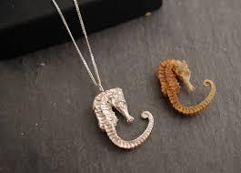 silver seahorse pendant necklace