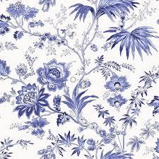 Bolcom Origin Behang Bloemen Wit En Delfts Blauw 326120