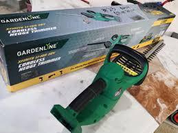 cordless hedge trimmer gardening