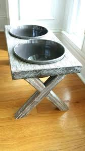 iron dog bowl stand dog bowls stand bowl ideas dog bowl stands wrought iron stand wood