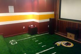 image of football field carpet for room