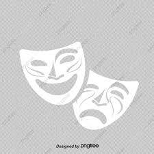 ベクタコメディと悲劇劇場のマスクイラスト 劇場の仮面 喜劇マスク 悲劇