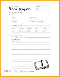 Book Report Templates Middle School Book Report Template Middle School Format High Non Fiction