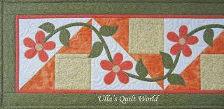 Ulla's Quilt World: Table runner quilt with flowers & Table runner quilt with flowers Adamdwight.com