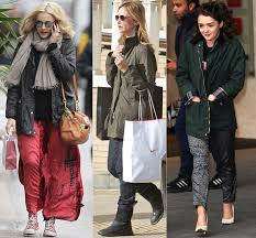 fearne cotton calista flockhart and maisie williams wearing barbour jackets
