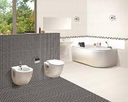 modern black and white bathroom tile