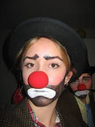 here is some images to show exles of hobo clown makeup