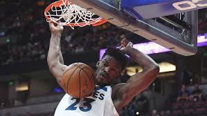 jimmy butler dunk. Brilliant Dunk Minnesota Timberwolves Player Jimmy Butler Dunks Against The Los Angeles  Lakers In First Half During A Preseason NBA Basketball Game At Honda Center  In Dunk