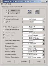 Psychrometric Chart Calculator Software Free Download Psychrocalc 1 1 Download Free Calc Exe