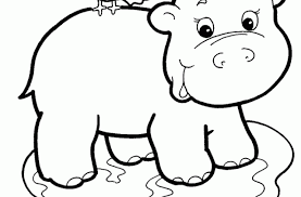 Small Picture Baby Hippo Coloring Pages Images amp Pictures Becuo Baby Hippo